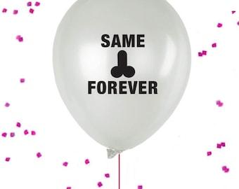 Same Penis Forever Balloons, Penis Straws,  Bachelorette Party Balloon, Penis Straws, X-rated Party Decor,  Penis Balloon, Penis Pinata
