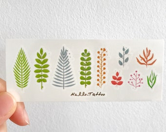 Plants & Ferns - Temporary Tattoos // Cool // Cute // Hipster // Summer // Party
