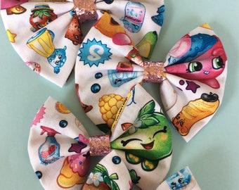 Shopkins fabric bow, shopkins now headband