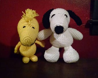 Snoopy OR Woodstock Crochet amigurumi