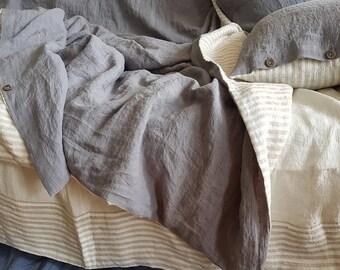 reversible linen duvet set striped gray duvet cover washed linen duvet doona cover