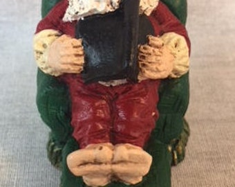 Handpainted Miniature Napping Santa