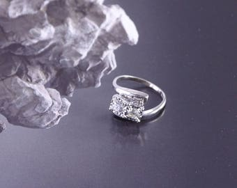 Antique OEC Two Diamond 14K Ring (size 6.75) Engagement Wedding Anniversary Just Because