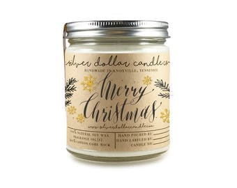Christmas Gift Scented Candle 8oz PICK ANY SCENT| Xmas, Gift for her, Girlfriend gift, Holiday, candle, soy candles, xmas gift, secret santa