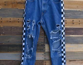 0477 - American Vintage - Street Styled - Checkered Pants