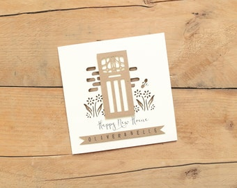 Personalised House Warming Card / New House Card / Moving Home Card / Personalised Home Card / House Warming Card / New Home Card
