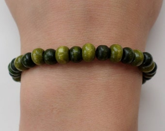 Wood beads Bracelet - forest green