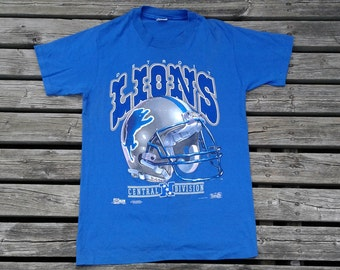 1991 Detroit Lions Vintage t-shirt Central Division NFL Made by Salem Sportswear in the USA Sized Large