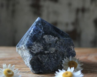 Sodalite raw polished point