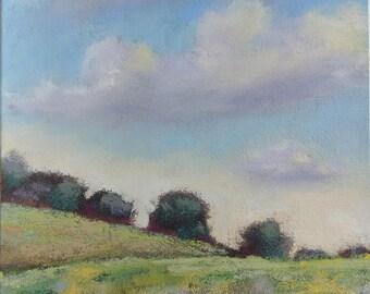 "Original pastel painting ""Hills"""