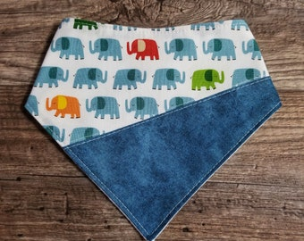 Bandana Bib | Elephant | Bibdana | Teething | Baby | Drool Bib | Kenton Creations | Kenton Creations | Handmade in Canada