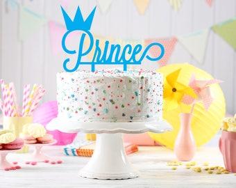 Prince Cake Topper, 1st Birthday Cake Topper, custom Cake Topper, First Birthday Cake Topper, Little Prince Cake Topper, Crown Cake Topper