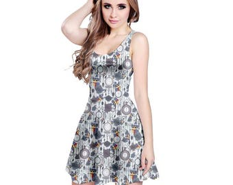 Labyrinth Worm Dress - Skater Dress Labyrinth Dress Cosplay Dress Comicon Dress Plus Size Dress Labyrinth Movie Tea Dress