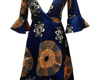African clothing, african print dress, ankara dress, african print, wax print, african clothing,( MICHELLE dress)