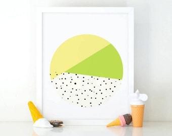Abstract circle print, Minimalist wall art, printable wall art, Kids room decor, Nursery decor, Geometric print, nursery wall art, Modern