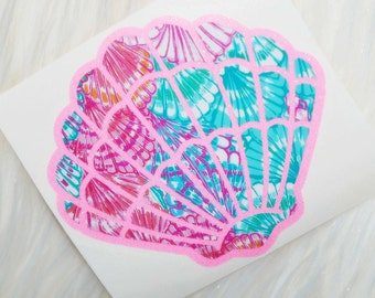 Lilly Pulitzer Inspired Seashell Vinyl Decal