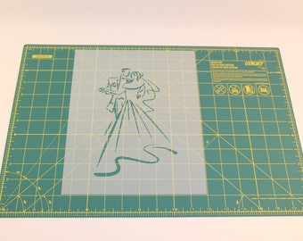 Wedding Stencil - Reusable DIY Craft Stencil of Bride and Groom of Wedding
