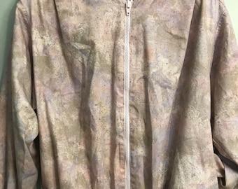 Pastel Splatter Paint Bomber Jacket