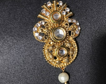 Indian Jewelry - Saree Brooch - Saree Pin - Pakistani Jewelry - Indian Accessories - Indian Bridal - Pakistani Bridal - Indian Wedding -