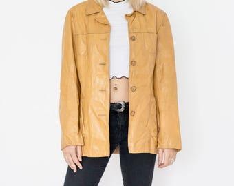 90s Sunset Leather Blazer
