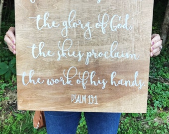 Custom bible verse on wood background | wedding | welcome sign