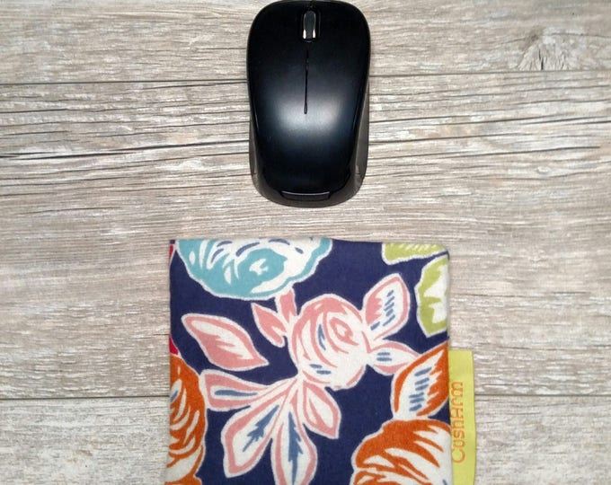 Pastel Floral CushArm Mini computer Wrist rest, perfect for a stand up desk