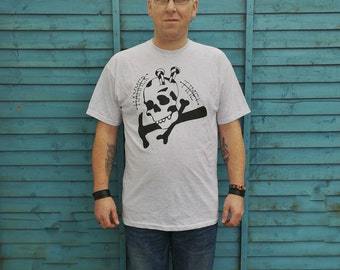 Hammer time shirt, skull shirt, nails shirt, tattoo shirt, classic tattoo art, old school shirt, hipster gift, gift for tattoo lovers