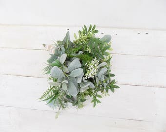 how to make a cascading bridal bouquet with artificial flowers