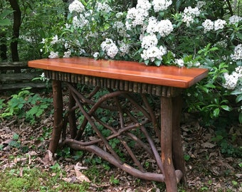 unique rustic furniture. rustic furniture adirondack mountain laurel entry table huntboard console unique e