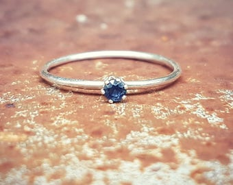 Beautiful Australian Sapphire & Eco Sterling Silver Ring