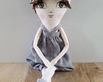 Handmade Ooak 12 Inch Doll / Fabric Doll / Cloth Doll / Heirloom Doll / Art Doll / Rag Doll / Gifts for Baby