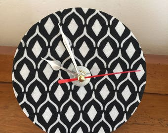 Vintage fabric mantle clock