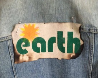 Save the Earth,Activist patch,Climate change,EPA,Protest patch,political patch,patches for jackets,backpack patch,back patch,canvas patch