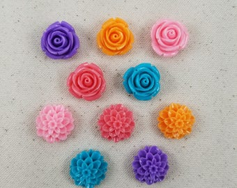 SUPER STRONG!!! Sweetest Flowers Decorative Magnets, Set of 10, Neodymium Magnets, Flower Magnets, Rose Magnets, Fridge Magnets, Home/Office