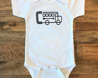 C-Bus Infant Screen Printed Onesie