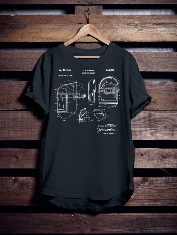 Welder Helmet Patent T-shirt Gift for Dad Mens Ladies Womens, Funny Welding Tee, Weld Shirt, Welder's Tshirt, Perfect Gift.