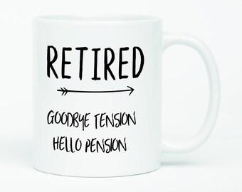 Happy Retirement, Retired Mug, Army Retirement, Funny Retirement, Good Retirement Gift, Retirement Quotes, Goodbye coworker, Retirement Mug
