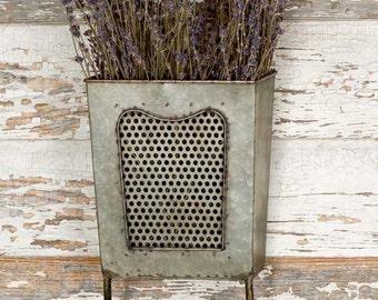 Wall Box with Towel Bar, Kitchen Decor, Wall Decor, Farmhouse Shabby Chic