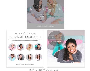 Senior Model Social Media Template | Photoshop Templates | Senior Rep | Senior Model Search | Social Media Design