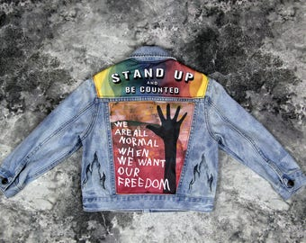 Kids Denim Jean Jacket 4T | FREE INTERNATIONAL SHIPPING | Vintage Inspired Cosmic Children of The Universe