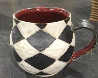 Black, White, and Red Mug