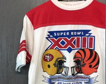 S/M * vintage 80s 1989 49ers x Bengals t shirt * San Francisco Cincinnati