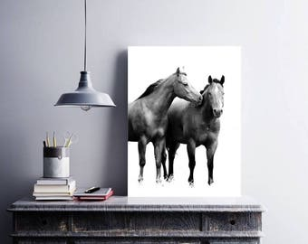 Horse Photo Download, Wild HORSE WALL ART, Horse Printable Art, Western Decor, Horse Love, Black White, Horse Photography Wild Horse Picture