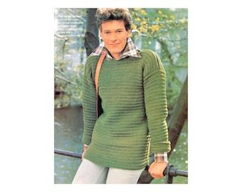 Mens Sweater Crochet Pattern