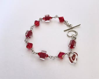 Fire & Ice Bracelet Collection #1~David Christensen Furnace Cane Glass Beads