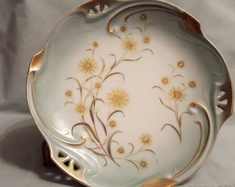Vintage Dish with Gold Trim