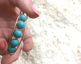 Blue Marble Beaded Bracelet