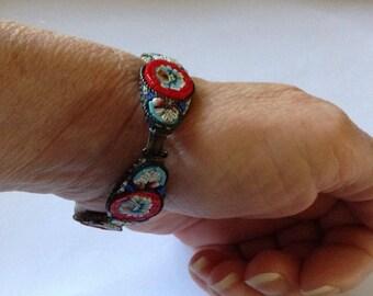 Mosaic Inlay Link Bracelet