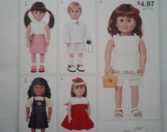 McCALL'S  Pattern M9049 Fits American Girl & Boy other 18 inch dolls