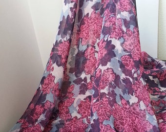 1yd (0.91m) of chiffon print fabric-Floral pattern - 150cm(59inch) Wide,RL_C007